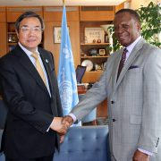 His Excellency Paul William Lumbi, High Commissioner of the Republic of Zambia to the United Kingdom, on Wednesday (8 April) paid a courtesy visit to the Headquarters of the International Maritime Organization (IMO), to mark Zambia's status as the newest […]